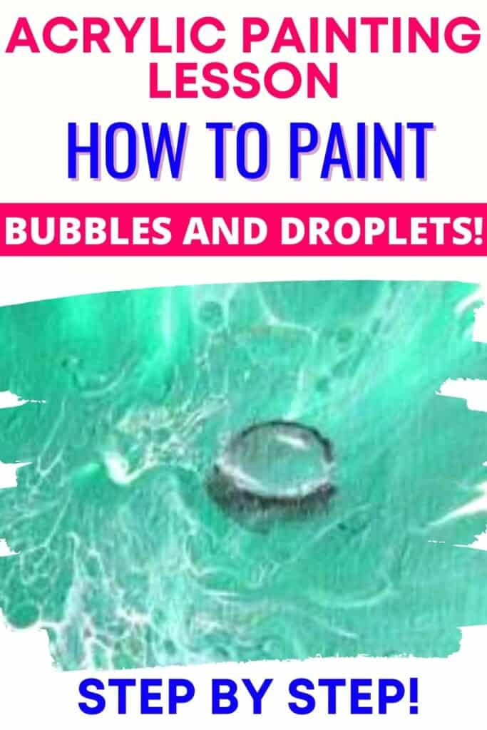 Acrylic Painting Lesson: How to Paint Bubbles and Droplets! Step by step!