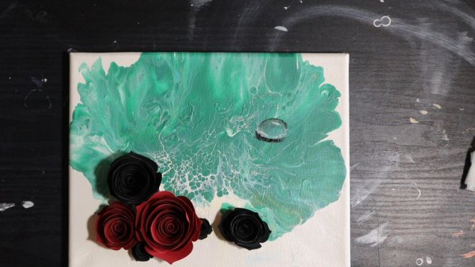 demonstration of how to paint water droplets