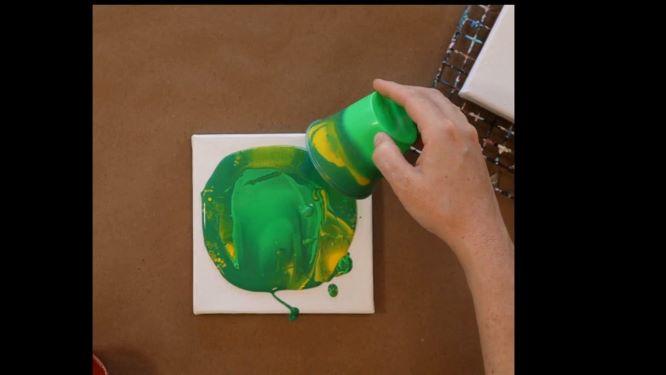 flip-cup pour in progress